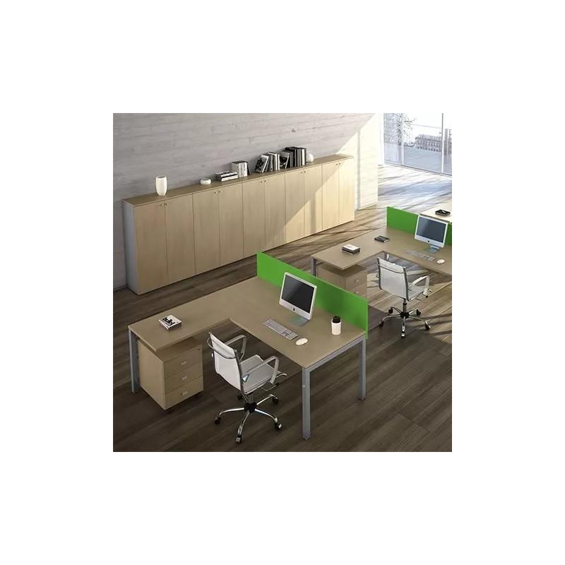 Postazione Amministrativa Con Mobili Per Ufficio Economici Con 3 Sedie